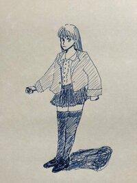 秋の服装の一つとして…  ローファーの靴 ハイストッキング プリーツがおおいミニスカート フリルのブラウス 薄地のジャケット   …というのはどうでしょうか?