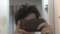 この髪型ダサいですか? やっぱり髪をすかれすぎて、アップバングにしてもボリュームがw