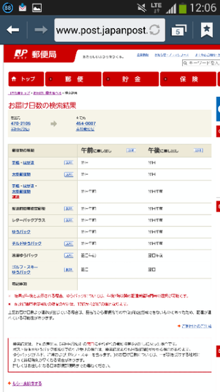 局 お 届け 日数 郵便