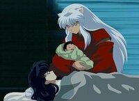 犬夜叉のこの画像ってかごめが子供を産んだシーンですよね? こんなシーンアニメで放送したんですかね? OVAか何かですか?
