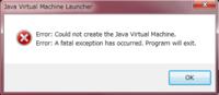 javaのアップデートがきてアップデートしてマインクラフトを起動したら Java Virtual Machine Launcher Error:Could not Create the Java Virtual Machine. Error:A fatal exception has occurred.Program will exit. というエラーが出てマインクラフトがプレイできま...