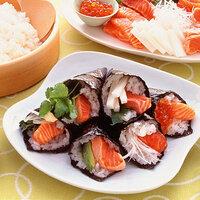 サーモンの手巻き寿司は美味しいですか?