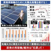 『太陽光発電:災害に備え 導入の動き広がる 避難所での使用も想定』2015/1/9  → 太陽光発電が、災害時に人々の命を救う。 ⇒ しかし、原発を再稼働するために、太陽光発電はその勢いを殺されてしまった。 新...