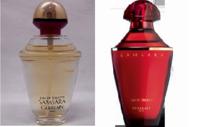 ゲラン サムサラって赤いデザインであってますよね? 左側の金キャップと透明ボトルは古いモデルですか? どちらもEDTです。 そうだとしたら何年ほど前でしょうか? ※レフィルではないです。  香水/ゲラン/サムサラ/シャリマー/ミツコ/シャネル/ディオール/サンローラン/夜間飛行
