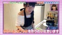 乃木坂46 秋元真夏は実家暮らしでしょうか   NOGIBINGO!4自宅ロケでの写真です。 料理好きな彼女なので冷蔵庫の上にオーブンがあるのは分かりますが 実家だともう少し冷蔵庫が大きいのではないかと  これは1人暮らしなんでしょうね。