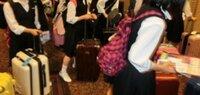 修学旅行のスーツケース   この画像のものだと、どれくらいの大きさになりますか?大体◯Lだとかもわかればぜひ教えて下さい。