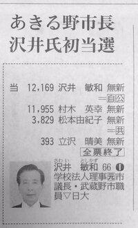 あきる野市長選   共産党は絶対勝てないのに、なぜ出馬するのでしょうか? あきる野市が「自民公明の支配下に堕ちるのが、好ましくない」という認識を持っていないのでしょうか? 画像は東京新聞より転載