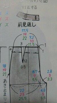 洋裁得意な方に質問です。 1ダーツ(3cm)のパンツの製図を1タック(6cm)に変更するにはどこを直したらよいのでしょうか?