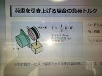 モーターを用いておもりを持ち上げる方法は? 写真の図はどうやって、荷重を持ち上げているのですか? モーターが回転することにより、ベルト車に糸が巻き付いて上昇するのでしょうか?