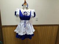 こちらは何かのアニメのキャラクターのコスプレ衣装でしょうか?それとも、ただのメイド服でしょうか?? ただのメイド服っぽい気もしますが、当方うといのでサッパリ分かりません。青いドレス に白いエプロン、...