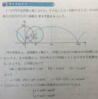 数学III サイクロイドについての質問です。 PDは aCOSθ CDはaSinθじゃないんでしょうか? 理由を教えてください