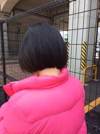 イレブンカットで、肩くらいまでの髪を前下がりボブにしてくださいっていって切ってもらったんですけど切られすぎですよね?(笑)まあしかたないですけど