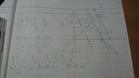 これを提出した時どこか直されるところはありますか?字が汚くて申し訳ございません 問題)x,yが3つの不等式-x+3y≦8,x+y≧4,-x+y≧0を同時に満たすとき、2x+yの最大値、最小値を求めよ。