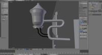 (画像あり)blender 画像のようなかたちで円柱をくっつけたいのですがどのような方法があるでしょうか。 教えてください。。m(_ _)m