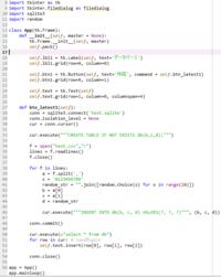 """pythonのtkinterについての質問です。  画像のプログラムを実行して、 「作成」ボタンを押すと下の様なエラーが出ます。 アドバイスをお願いします。 Exception in Tkinter callback Traceback (most recent call last):  File """"C:\Anaconda3\lib\tkinter\__init__.p..."""