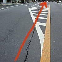 右折レーンの質問です 画像のように右折レーン直前の斜線部分を直進するのは違反ですか? 事故には至らなかったのですが、自車は直進レーンから右折レーンに進行(斜線は踏まず) その時、斜線を直進してきた後続...
