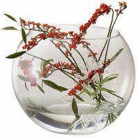 こんにちは! 金魚鉢や花瓶の写真のような丸い入れ物を 探しているんですが同じような形の物で ガラスなどではなくプラスチックなどでいいのですが 代わりになるようなもう少し安いものがあれば みなさん教えてください。  大きさなどは1.5〜2Lぐらいを探しています。  よろしくお願いします。