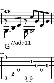 この表記におけるセブンスの音はどれなのでしょうか? 見当たらないです