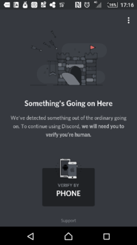 discordのアカウント登録をしたらこんな画面が出てきたんですけどこれってなんですか? ログアウトしてもこのままです