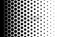 イラストレーターで六角形のハーフトーンを書きたいです。 ドットのハーフトーンの書き方はネットに乗っているのですが、ドット以外で書きたいです。 宜しくお願い致します