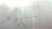 芳香族化合物の構造決定について C9H8O2で表されるAがある。Aを加水分解するとギ酸と化合物Bが得られる。Bは無水酢酸と反応せず、銀鏡反応も示さない。  解答ではAの構造が②となっているのですが、①が間違いであ...