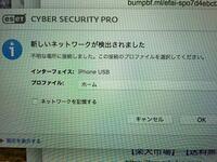 MacBook Proにセキュリティソフトesetを入れています。 iPhoneとUSB接続した状態で再開したらこのような表示が出ました。  普段使いの自分のiPhoneとMacになりますが、この設定は、  ホーム と パブリック または ワーク  どれがいいんでしょうか?