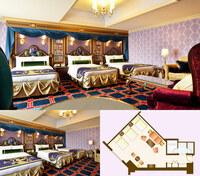 ディズニーランドホテルの美女と野獣ルームのトリプルは1-2階と3-9階がありますが、全ての部屋の間取りが公式ホームページに載っている通りでしょうか? (間取りが反転している写真を掲載しているブログを見かけ...