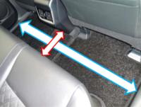 60ハリアーにお乗りのかた、後席足元の寸法が知りたいのですが、教えていただけないでしょうか?