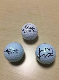 女子プロゴルフ選手のサインが誰のものか分かりますか?4月7日にスタジオアリスオープンで貰いました。