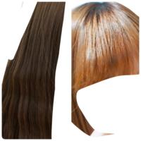 髪色とヘアカラーについて質問です 左の画像が室内で 右が太陽に当たっている時の 髪色です  市販のブリーチ剤を使って色をぬこうと思っているのですが このくらいの茶髪だと10分くらいの放置でも金髪に近いくら...