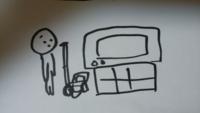 32型のブラウン管テレビをどうしても1人で左の台に乗せたいんですけどどうやったら乗せれますか 良い方法あれば教えて下さい