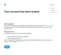 ツイッターがロックされたという画面が英語で表示され、ツイッターが出来なくて、けっこう長い間困惑してます[下の画像のような画面です]。ちなみにスマホは持っていなくて、パソコンです。 この前はパスワードを...