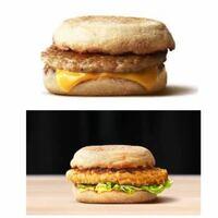 朝マックのソーセージマフィンとチキンクリスプマフィンってどちらがお腹にたまりますか?