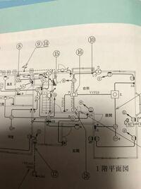 16の複線図がわかりません。 電源がどれなのかすらわかりません。 照明器具(ア)への配線はVVF1.6-2Cです。