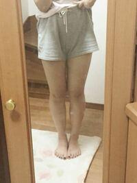 スカート履きたいけど 足が太い気がして履けません(;_;)  これ太すぎてまだ履いちゃだめですよね??