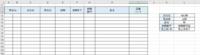 エクセル ドロップダウンリストから行うデータの絞り込み方法  画像のような表を作成したいと考えています。 右側の  会社名 担当者 品名… の部分をプルダウンで作成し、選択した会社名などのデータを 左...