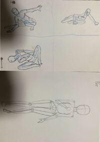 二次創作などオリジナルで絵を描けるようになるには どういったことが必要ですか?   僕は現段階、アニメ塾(YouTube)を見る、10分ドローイングをする (30秒や60秒じゃあ服のしわや ボディラインなどまで覚えられないから) 手足の練習をする、好きな絵の模写、人体筋肉の構造をインプットする  だとおもうのですが。   よろしくお願いします!  今の実力基本この程度です。。 上が10分ドロ...