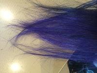 【髪染め】紫の上から入れられる色について  毛先をマニックパニックで染めました。  ブリーチは2.5回ぐらいしてあって ライラック(紫)を入れた後 ショッキングブルーをメッシュで入れた のですが 想定外...