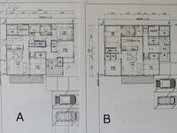 平屋の間取り診断をお願い致します。   注文住宅にて平屋26坪の家の設計中です。   以下の内容で住宅メーカーに設計してもらっております。 40代夫婦2人で住む平屋です。 プラン「A」・プラン「B」 どちら...
