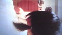 髪を結んでみました。中学1年生の男子です。髪を結んでみました。僕の髪は長いですか?