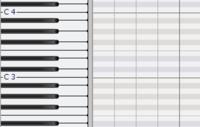 cakewalkでのピアノロールの表示について  cakewalk(sonar)でキーを変更した場合に そのキーにおける構成音がピアノロールでの表示上で見やすくなる方法はありますか? 例えば、 初期はCメジャーで白鍵のC,D,E,F,G,A,Bが白く表示されていますが Cマイナーに変更した場合にC,D,E♭,F,G,A♭,B♭が白く表示されるようにしたいです.