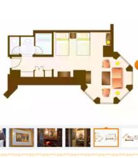 ディズニーランドホテルの美女と野獣ルームに泊まろうと考えています。 画像のようなタレット?がある部屋がいいのですが、その場合3-8階のツインベッド+トランドルベッドを予約すればいいのでしょうか? この部...