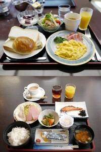 朝食、どちらが食べたいですか?