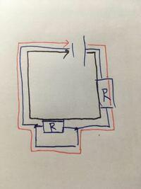 なぜ黒線ではなく赤線に電流はながれるのですか?