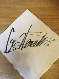 プロレスラーのサインです。 昭和50年代後半の物ですが誰のサインかわかりますか?