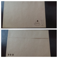 至急です!友達に手紙を送ろうと思っているのですが、封筒のどこに宛名を書けばいいのかわかりません。100円ショップで買った封筒なのですが、相手の住所と自分の住所をどこに書けばいいのかわからず困っています...