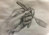 これはクロッキーです。 手のデッサンって何を意識して書けばいいんですか?  いつもぼやけた感じになります