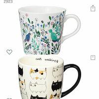 女子へのプレゼントで、マグカップを、買おうと思ったのですが どちらが良いでしょう?皆さんはどちらが好きですか?