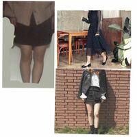 大根足です。この足の太さやばいですよね! ω`) 明日スポッチャ行くので2通りの写真が右にあると思います、右下の写真の服装で行きたいのですが着ない方がいいですかね?