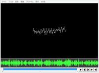 【至急】aviutlでの音声波形表示ってどうすればできるのでしょうか? 『音声波形表示』といっても、メディアオブジェクトで追加できるアレではなくて、添付画像の下にある緑のほうです。(ほかの言い方がわからな...